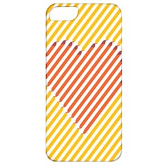 Little Valentine Pink Yellow Apple Iphone 5 Classic Hardshell Case