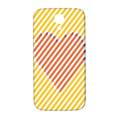 Little Valentine Pink Yellow Samsung Galaxy S4 I9500/i9505  Hardshell Back Case