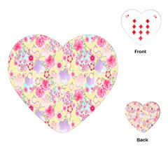 Flower Arrangements Season Floral Pink Purple Star Rose Playing Cards (heart)