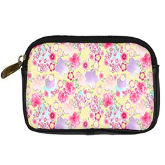 Flower Arrangements Season Floral Pink Purple Star Rose Digital Camera Cases