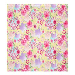 Flower Arrangements Season Floral Pink Purple Star Rose Shower Curtain 66  X 72  (large)