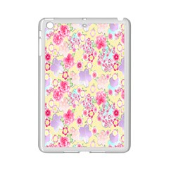Flower Arrangements Season Floral Pink Purple Star Rose Ipad Mini 2 Enamel Coated Cases