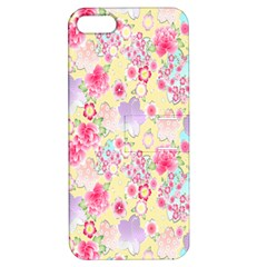 Flower Arrangements Season Floral Pink Purple Star Rose Apple Iphone 5 Hardshell Case With Stand