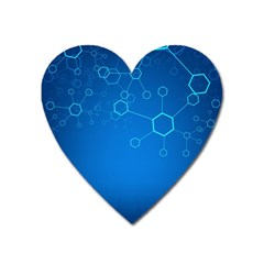Molecules Classic Medicine Medical Terms Comprehensive Study Medical Blue Heart Magnet by Alisyart
