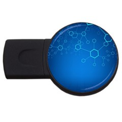 Molecules Classic Medicine Medical Terms Comprehensive Study Medical Blue Usb Flash Drive Round (4 Gb) by Alisyart