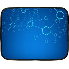 Molecules Classic Medicine Medical Terms Comprehensive Study Medical Blue Double Sided Fleece Blanket (mini)