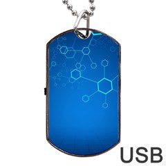 Molecules Classic Medicine Medical Terms Comprehensive Study Medical Blue Dog Tag Usb Flash (one Side)