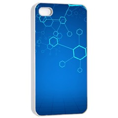Molecules Classic Medicine Medical Terms Comprehensive Study Medical Blue Apple Iphone 4/4s Seamless Case (white)
