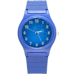 Molecules Classic Medicine Medical Terms Comprehensive Study Medical Blue Round Plastic Sport Watch (s)
