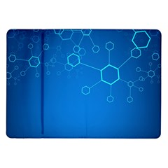 Molecules Classic Medicine Medical Terms Comprehensive Study Medical Blue Samsung Galaxy Tab 10 1  P7500 Flip Case