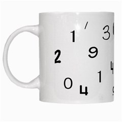Number Black White Mugs