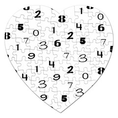 Number Black Jigsaw Puzzle (heart) by Alisyart