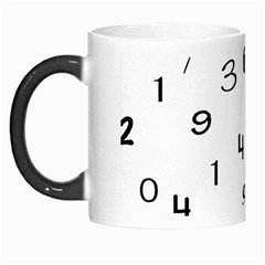 Number Black Morph Mugs
