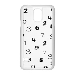 Number Black Samsung Galaxy S5 Case (white)