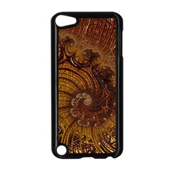 Copper Caramel Swirls Abstract Art Apple Ipod Touch 5 Case (black) by Amaryn4rt