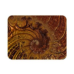 Copper Caramel Swirls Abstract Art Double Sided Flano Blanket (mini)