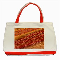 Line Dancing Gold Purple Classic Tote Bag (red) by Alisyart