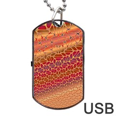 Line Dancing Gold Purple Dog Tag Usb Flash (one Side)