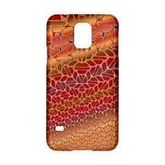 Line Dancing Gold Purple Samsung Galaxy S5 Hardshell Case