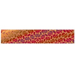 Line Dancing Gold Purple Flano Scarf (large)