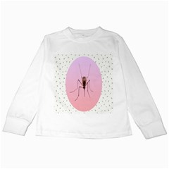 Mosquito Pink Insect Blood Kids Long Sleeve T Shirts