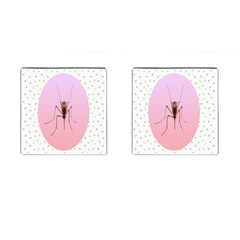 Mosquito Pink Insect Blood Cufflinks (square) by Alisyart