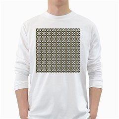 Flower Floral Chevrpn Wave Sunflower Rose Grey Yellow White Long Sleeve T Shirts