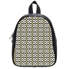 Flower Floral Chevrpn Wave Sunflower Rose Grey Yellow School Bags (small)