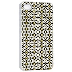 Flower Floral Chevrpn Wave Sunflower Rose Grey Yellow Apple Iphone 4/4s Seamless Case (white)