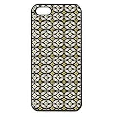 Flower Floral Chevrpn Wave Sunflower Rose Grey Yellow Apple Iphone 5 Seamless Case (black)