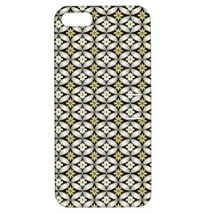 Flower Floral Chevrpn Wave Sunflower Rose Grey Yellow Apple Iphone 5 Hardshell Case With Stand