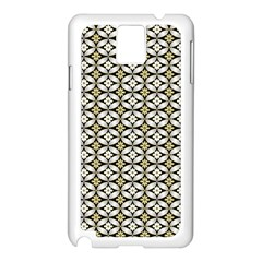 Flower Floral Chevrpn Wave Sunflower Rose Grey Yellow Samsung Galaxy Note 3 N9005 Case (white)
