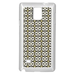 Flower Floral Chevrpn Wave Sunflower Rose Grey Yellow Samsung Galaxy Note 4 Case (white) by Alisyart