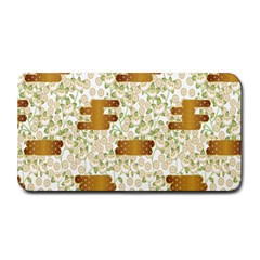 Flower Floral Leaf Rose Pink White Green Gold Medium Bar Mats