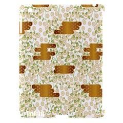 Flower Floral Leaf Rose Pink White Green Gold Apple Ipad 3/4 Hardshell Case (compatible With Smart Cover)