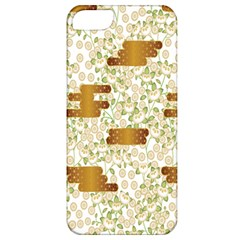 Flower Floral Leaf Rose Pink White Green Gold Apple Iphone 5 Classic Hardshell Case