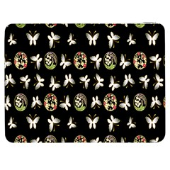 Butterfly Floral Flower Green White Samsung Galaxy Tab 7  P1000 Flip Case