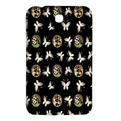 Butterfly Floral Flower Green White Samsung Galaxy Tab 3 (7 ) P3200 Hardshell Case
