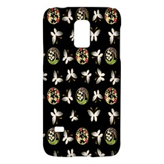 Butterfly Floral Flower Green White Galaxy S5 Mini by Alisyart
