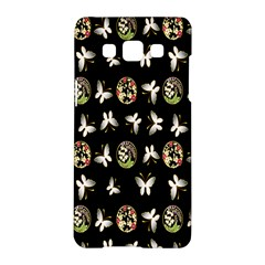 Butterfly Floral Flower Green White Samsung Galaxy A5 Hardshell Case
