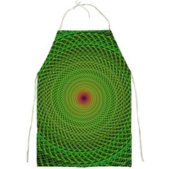 Green Fractal Simple Wire String Full Print Aprons by Amaryn4rt