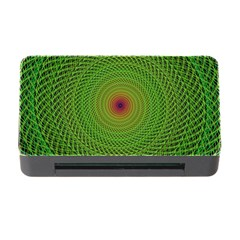 Green Fractal Simple Wire String Memory Card Reader With Cf by Amaryn4rt