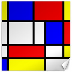 Mondrian Red Blue Yellow Canvas 12  X 12   by Amaryn4rt