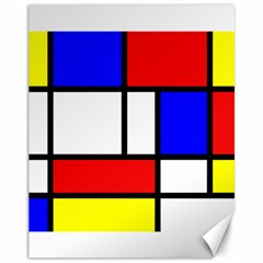 Mondrian Red Blue Yellow Canvas 11  X 14