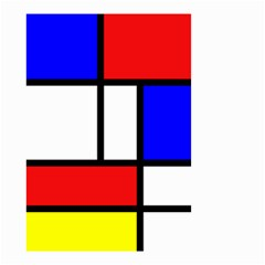Mondrian Red Blue Yellow Small Garden Flag (two Sides)