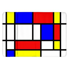 Mondrian Red Blue Yellow Samsung Galaxy Tab 8 9  P7300 Flip Case by Amaryn4rt