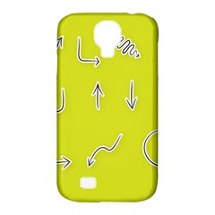 Arrow Line Sign Circle Flat Curve Samsung Galaxy S4 Classic Hardshell Case (pc+silicone)