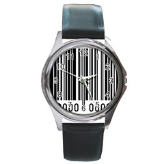 Code Data Digital Register Round Metal Watch by Amaryn4rt