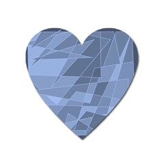 Lines Shapes Pattern Web Creative Heart Magnet by Amaryn4rt