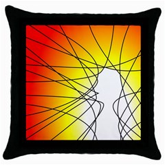 Spirituality Man Origin Lines Throw Pillow Case (black) by Amaryn4rt